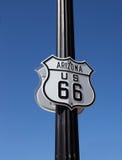 för routetecken för arisona 66 historisk trafik Royaltyfri Bild