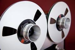 För rullbandspelardäck för parallell stereo öppen rulle för registreringsapparat Arkivfoton