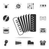 För rullbandspelardäck för parallell stereo öppen symbol för registreringsapparat Detaljerade uppsättningsymboler av symboler för stock illustrationer