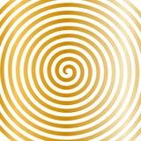 För rundaabstrakt begrepp för vit guld tapet för virvel hypnotisk spiral stock illustrationer