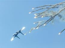 för russia för 27 flygmaks zhukovski för su salong Arkivbilder