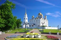 1158 1160 för russia för antagande domkyrka konstruerade vladimir sommar Arkivfoto