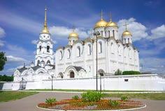 1158 1160 för russia för antagande domkyrka konstruerade vladimir sommar Royaltyfri Fotografi