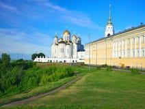 1158 1160 för russia för antagande domkyrka konstruerade vladimir sommar Arkivfoton