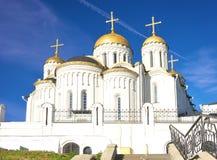 1158 1160 för russia för antagande domkyrka konstruerade vladimir sommar Arkivbild