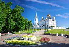 1158 1160 för russia för antagande domkyrka konstruerade vladimir sommar Arkivbilder
