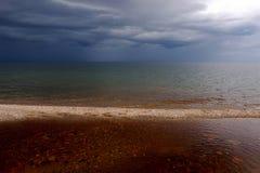 för russia för baikal oklarhetslake varmt väder solnedgång baikal lake russia Royaltyfri Foto