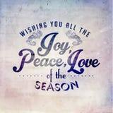 För säsonghälsningar för glad jul design för vektor Arkivbild