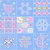 För sömlös backgrou för beståndsdelar julmodell för patchwork geometrisk Royaltyfria Foton