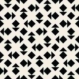 För sömlös svartvit geometrisk modell triangelfyrkant för vektor Arkivbilder