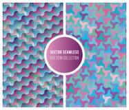 För sömlösa samling för modell rosa färgblått för vektor geometrisk Arkivfoton