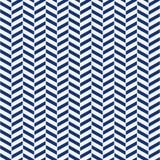 För sömlöst porslin mönstrar fiskbensmönstret för indigoblå blått och vitvektorn royaltyfri illustrationer