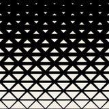 För sömlöst svartvitt rastrerad modell triangelraster för vektor Arkivbild