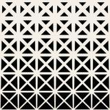 För sömlöst svartvitt rastrerad modell triangelraster för vektor Arkivfoton