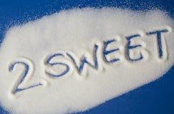 FÖR SÖTT skriftligt med socker Royaltyfri Foto