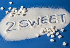 FÖR SÖTT skriftligt med socker Royaltyfri Fotografi