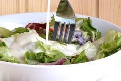 för salladsommar för bunke organisk white Royaltyfri Bild