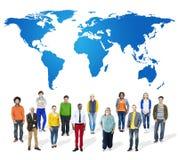 För samarbetsteamwork för affär globalt begrepp Arkivfoto