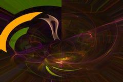För samkopieringsvåg för abstrakt vetenskap futuristisk fantasti för energi för stil för fractal för begrepp stock illustrationer