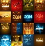 För samlingsferie för lyckligt nytt år härligt kort för hälsning Arkivbild