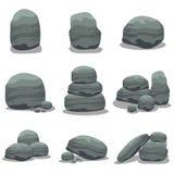 För samlingsmateriel för sten fastställd vektor Arkivbild
