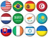 för samlingssymbol för 2 cirkel national Arkivfoton