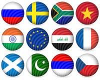 för samlingssymbol för 4 cirkel national Royaltyfri Bild