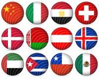 för samlingssymbol för 5 cirkel national Royaltyfri Foto