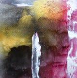 För samtida konstfärg för abstrakt akryl modern explosion arkivbild