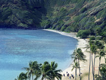 för sandwaikiki för strand blå white royaltyfri fotografi