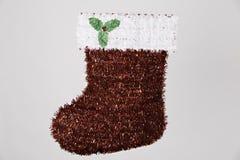 för santa för jul grön röd white strumpa Royaltyfri Fotografi