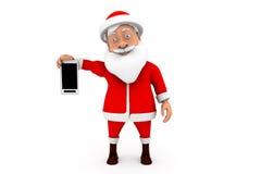 för santa för man 3d begrepp mobil Arkivfoton