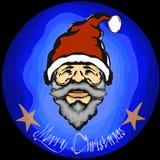 För santa för lyckligt nytt år för glad jul blått rött sinterklas Arkivfoto