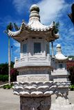 för sanya för porslinlykta nanshan tempel sten Royaltyfri Fotografi