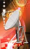 för satellitvektor för maträtt illustration isolerad white Arkivbild