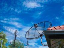 för satellitvektor för maträtt illustration isolerad white Royaltyfri Foto