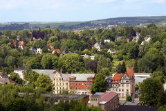 För saxony för Chemnitz stadstad natur för landskap sikt Royaltyfria Bilder