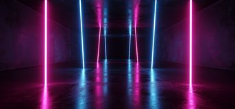 För Sci Fi för neon glödande psykedeliska vibrerande kosmiska ultravioletta fluorescerande lyxiga lysande lilor futuristiska Retr vektor illustrationer