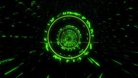 för science fictionStargate för gräsplan 3D bakgrund för rörelse för ögla tunnel VJ lager videofilmer