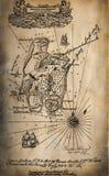 För Scrapbookpapper för tappning 50 åriga texturer Royaltyfri Bild