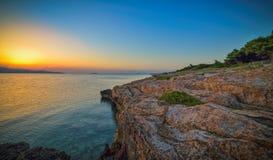 för seglingship för gryning medelhavs- soluppgång Royaltyfria Foton