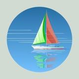 för seglingship för liggande 3d solnedgång Royaltyfri Illustrationer