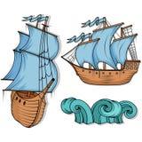 för seglingship för liggande 3d solnedgång retro ship för last för seglingship för liggande 3d solnedgång Arkivfoton