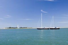 För seglingyacht för millivolt lynnig Hurst slott Arkivbild