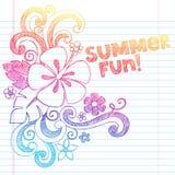 För semestersommar för hibiskus tropisk vektor för blomma stock illustrationer