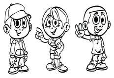 ` för serie för unge för ` för alfabetfärgläggningsidor, Arkivfoto