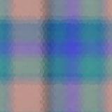 För sexhörningsstil för tartan låg poly mosaik för vektor Arkivbild