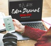 För Shopaholics för rabatt för försäljningsbefordran begrepp shopping Arkivfoto