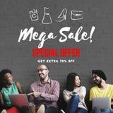 För Shopaholics för rabatt för försäljningsbefordran begrepp shopping Royaltyfri Fotografi
