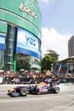för showhastighet för tjur f1 malaysia röd gata 2011 Arkivfoton